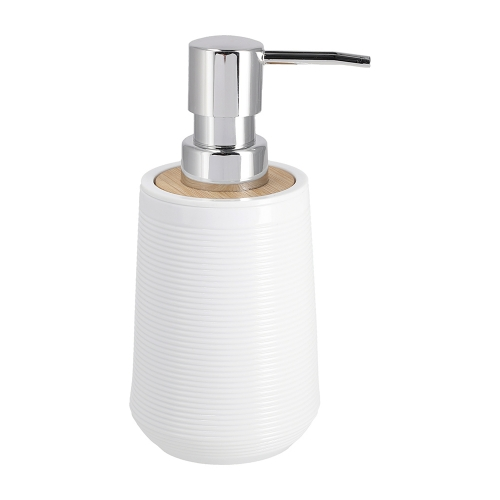 Dispensador Jabón de Plástico y Bambú 300 ml